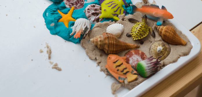 Activity for the summer on a seaside theme