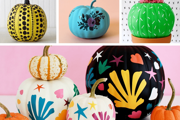 Projects to make Halloween pumpkin decorations